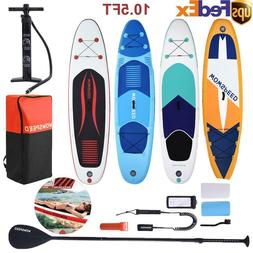 10.5Ft Inflatable Stand Up Paddle Board SUP Surfboard with c