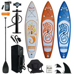 10' Inflatable Stand Up Paddle Board SUP Surfboard with comp