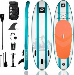 10' Roc Inflatable Stand Up Paddle Board w Premium SUP Acces