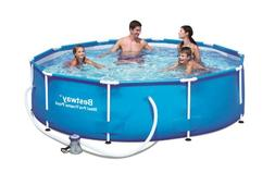 """Bestway 10'x30"""" Steel Pro Frame Above Ground Swimming Pool S"""