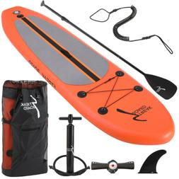 """10FT Inflatable Stand Up Paddle Board 6"""" thick Non Slip Deck"""