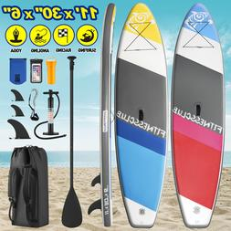 11'Inflatable StandUp Paddle Board Surfboard SUP Paddleboard