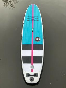 11' POP PADDLEBOARDS Yacht Hopper Black Inflatable Stand U