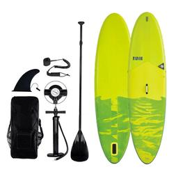 "Inflatable 10.6' SUP Paddle Board 6"" Thick With Pump Int"