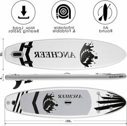 Inflatable Paddle Board Deck Surfboard Skill Levels Adult St