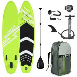 Inflatable Stand Up Paddle Board 10'x30''x6'' Green Paddlebo