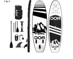 ROC Inflatable Stand Up Paddle Boards W Free Premium SUP Acc