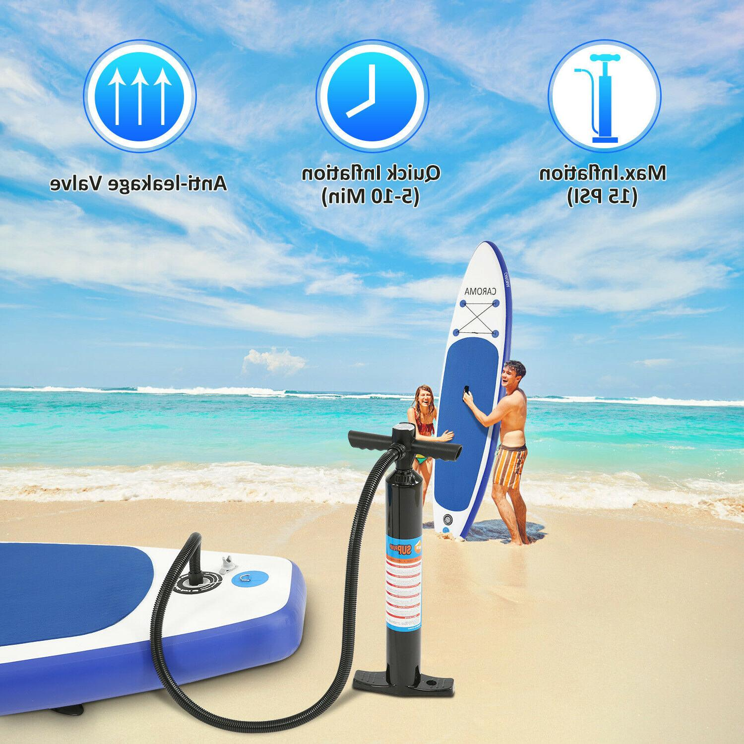 10-11ft 6'' Thick Complete Kit Surfboard Inflatable Up