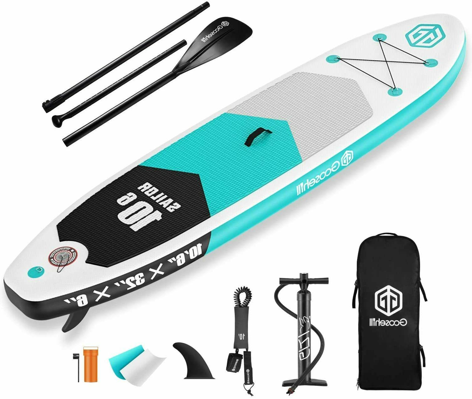 TOP Goosehill Teal Sailor Inflatable StandUp PaddleBoard Lig