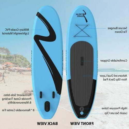 10'Inflatable Stand Surfing SUP Non-slip Deck