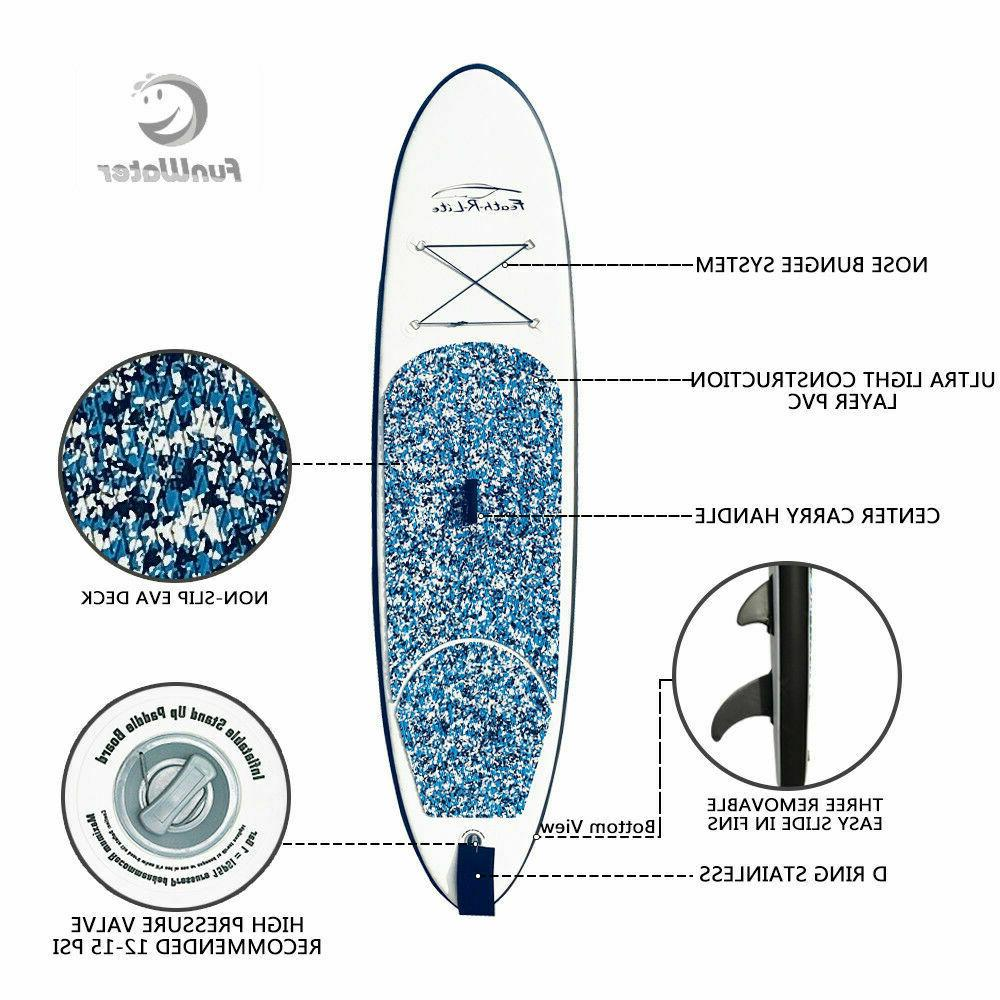 10' Inflatable Stand Paddle Surfboard with 6'' thick