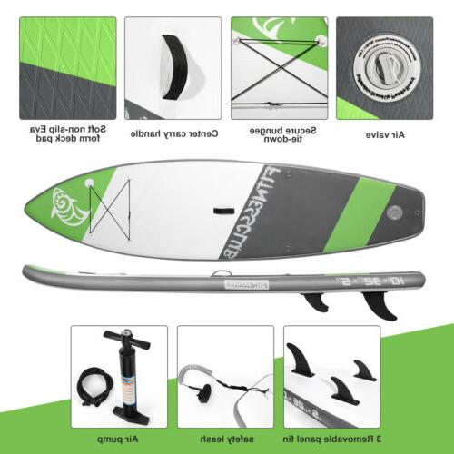 10' Stand Paddle Surfboard SUP w/Fin+Pump+Complete Kit+Bag