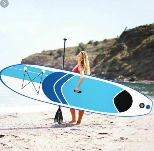 10' Inflatable SUP Stand Up Paddleboard Surfboard with SUP P