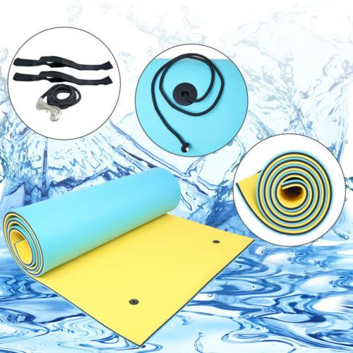 3 Layer 18/'x 6/' Floating Oasis Water Play Foam Pad Island Mat Float Lakes Boat