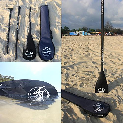 ABAHUB Carbon SUP Paddle 3-Piece Shaft Blade + Bag
