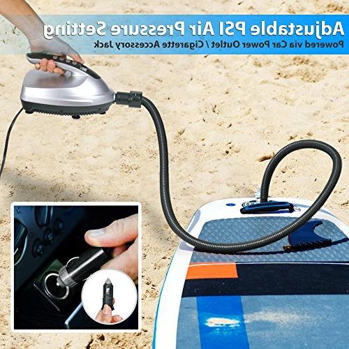 SereneLife Compact Air with Off for Paddle Boards, Pool Water 12V
