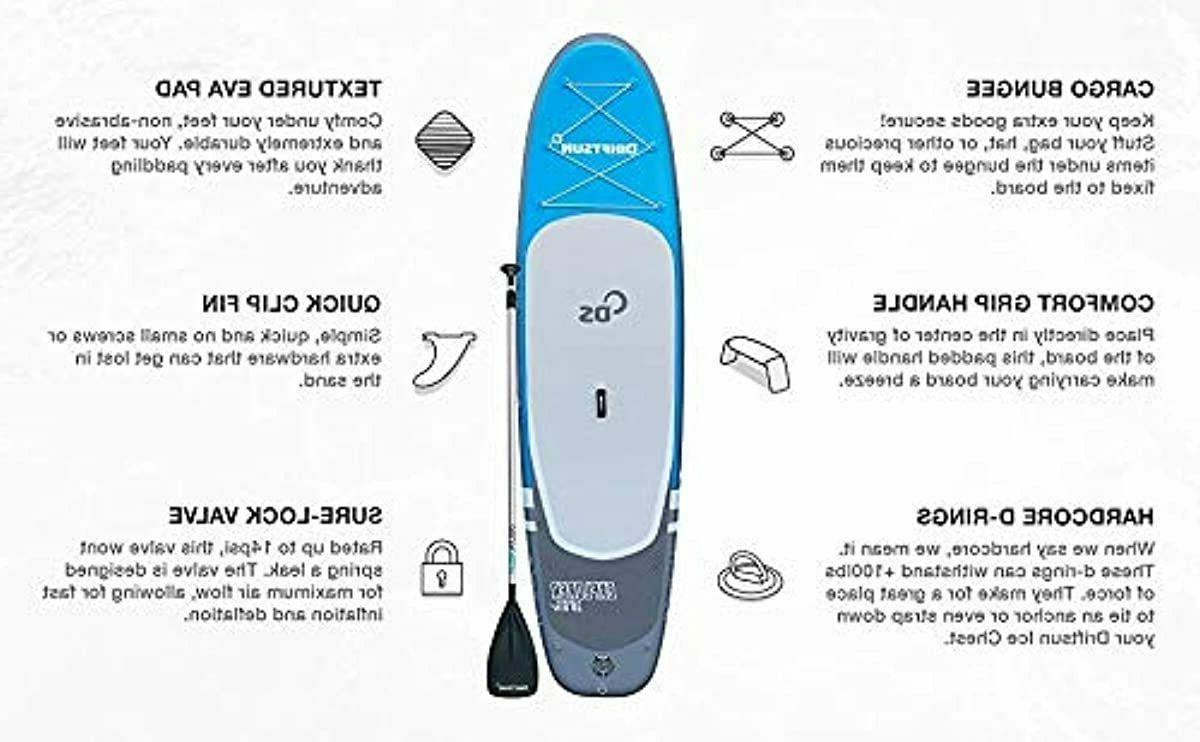 Driftsun Explorer Stand Up Paddleboard ft ISUP with Travel