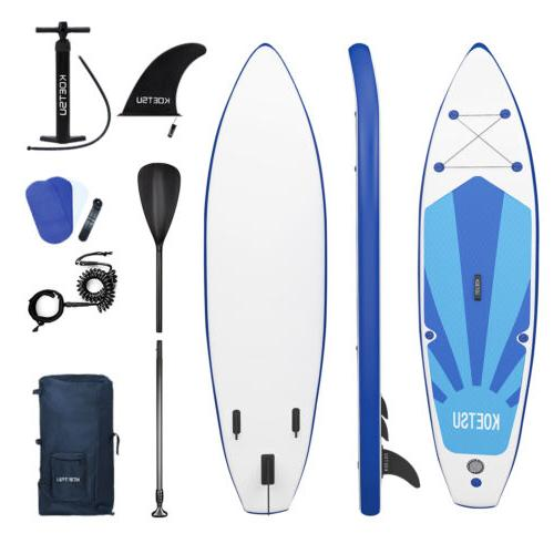 Extra Wide Inflatable Up Paddle Board Surfing