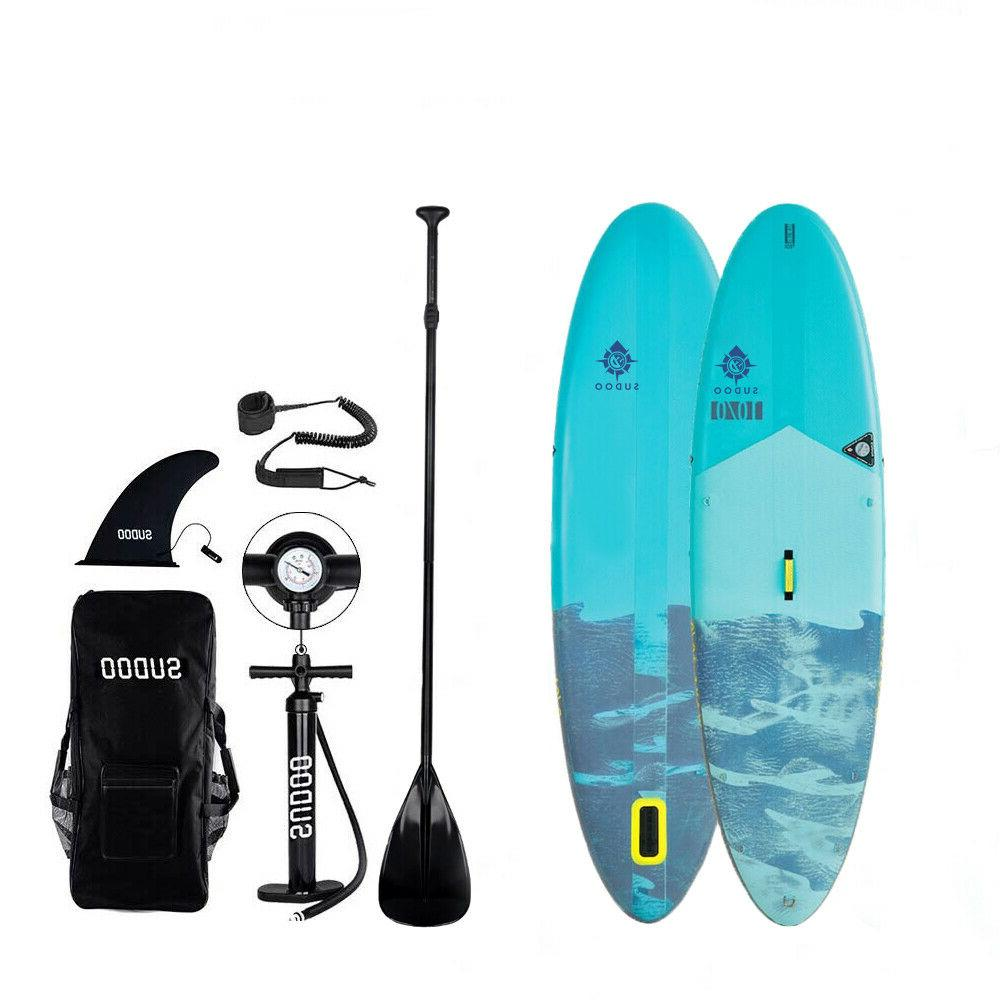 "Inflatable 10' Paddle Board 6"" Pump"
