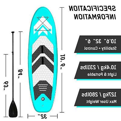 Inflatable Paddle Board Stand 6 inches Board