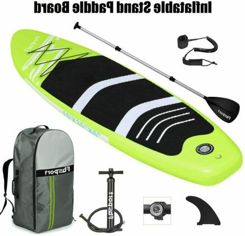 Inflatable Stand Up Paddle Board 10'x30''x6'' Green Paddleboard Accessories US
