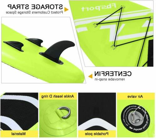 Inflatable Stand Board 10'x30''x6'' Green Accessories US