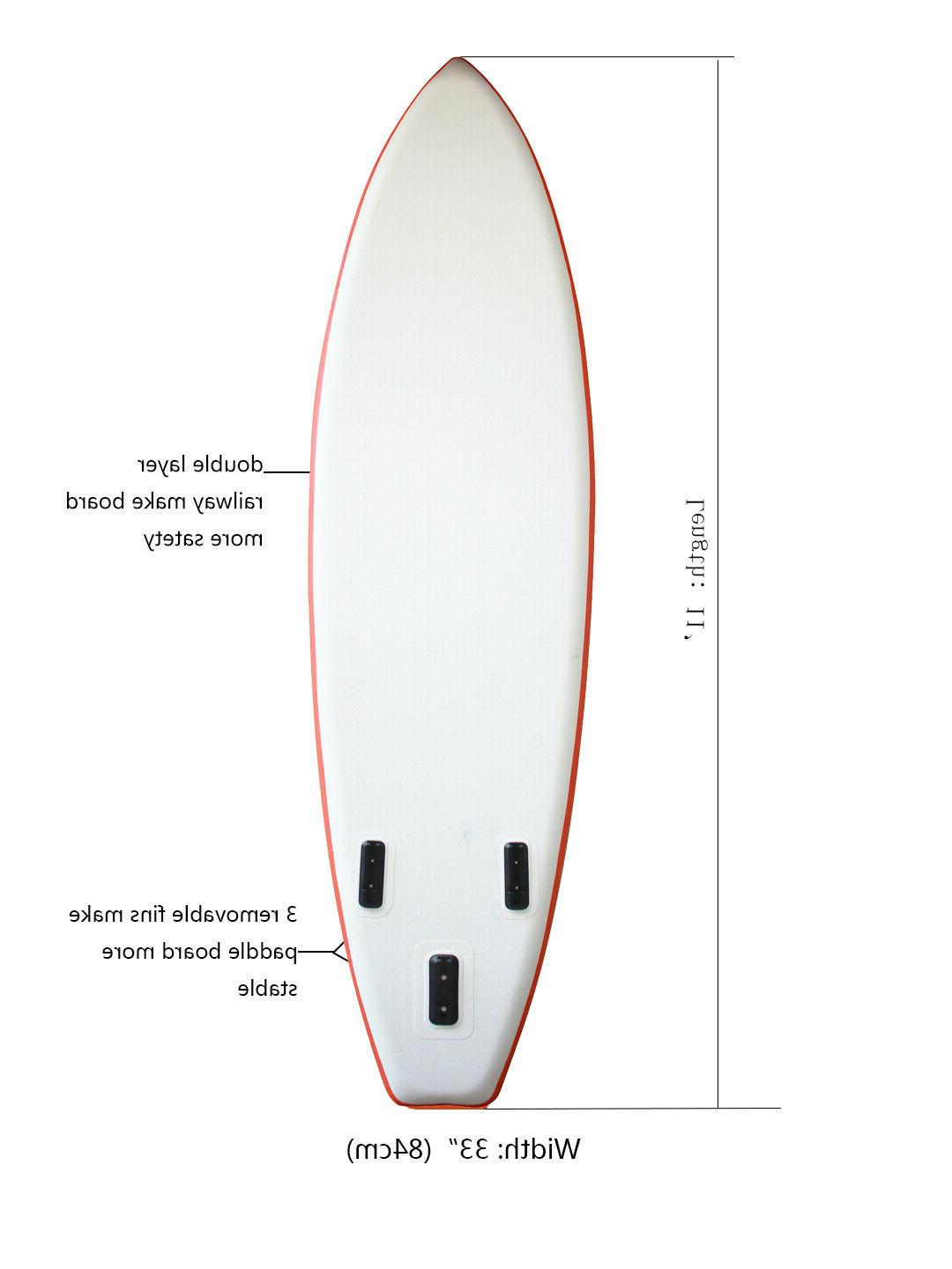 """inflatable stand paddle board 11'long 33""""width"""