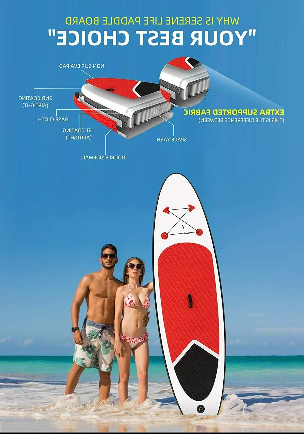 Inflatable Paddleboard SUP with SUP & Bag