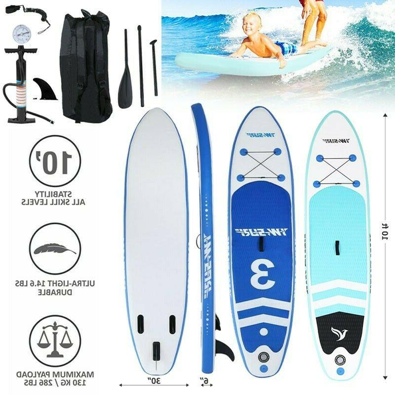 NEW 10' Inflatable Up Paddle Board Deck Complete Kit