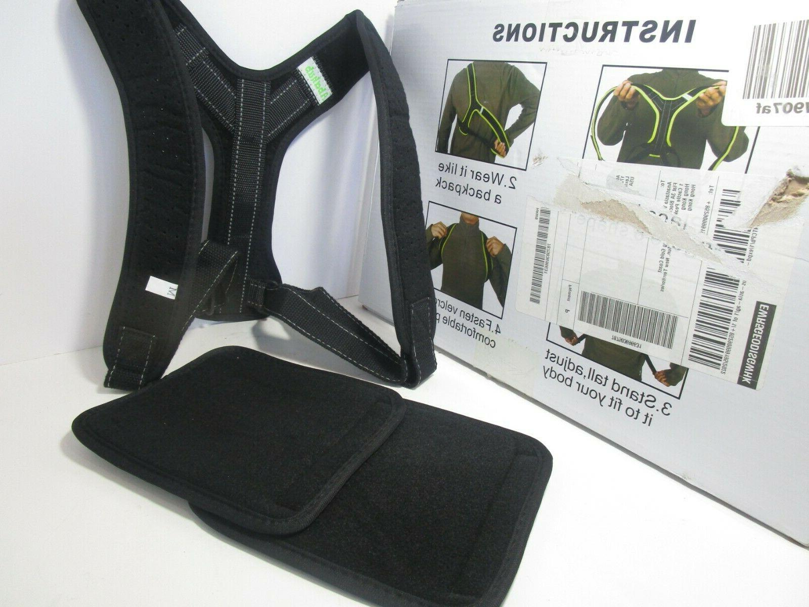 Abahub Posture Clavicle Back Black Medium, FREE