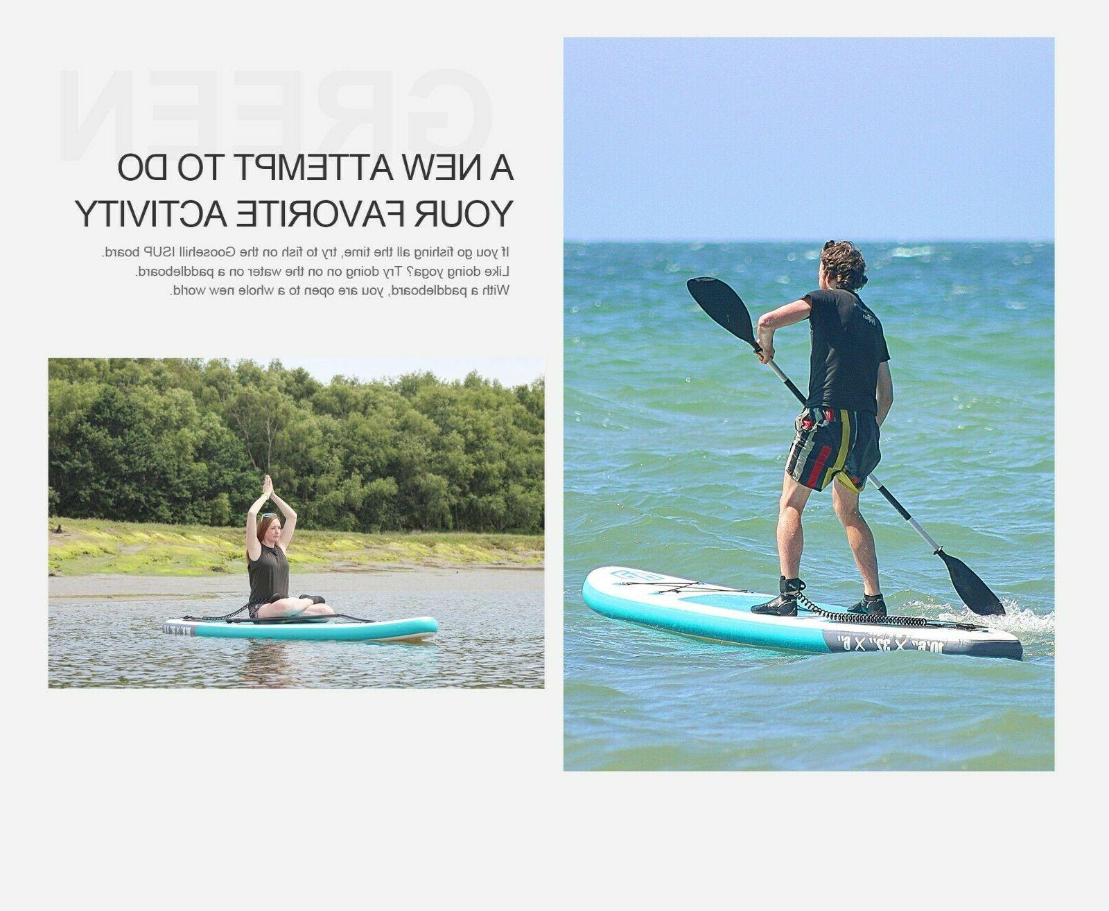 TOP Goosehill Teal Inflatable StandUp PaddleBoard Light Tech