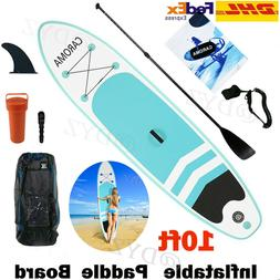 10' Inflatable Stand Up Paddle Board iSUP Surfboard Non-Slip
