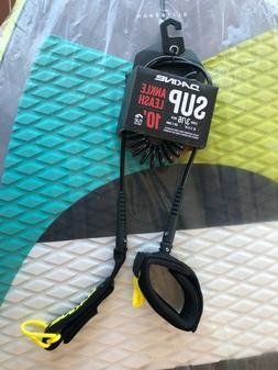 """NEW Dakine 10' SUP Leash 10' X 3/16"""" Coiled Ankle Stand Up P"""