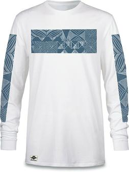 New 2018 Dakine Mens Plate Lunch II L/S T-Shirt Tee Large Wh