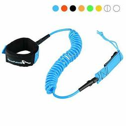 Abahub Premium Coiled SUP Leash Stand-up Paddleboard Legrope