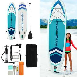 """Premium Inflatable Stand Up Paddle Board 6"""" Thick W SUP Acce"""
