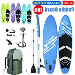 US 10' Inflatable Stand Up Paddle Board Non-Slip Deck w/ Pre